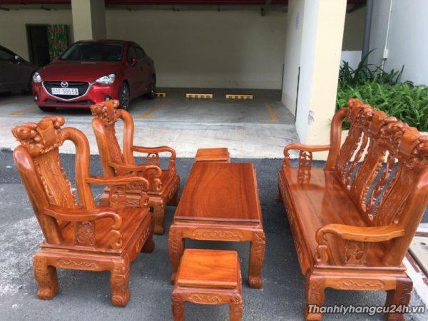 Thanh lý Bộ ghế gỗ cẩm lai phòng khách tại TPHCM