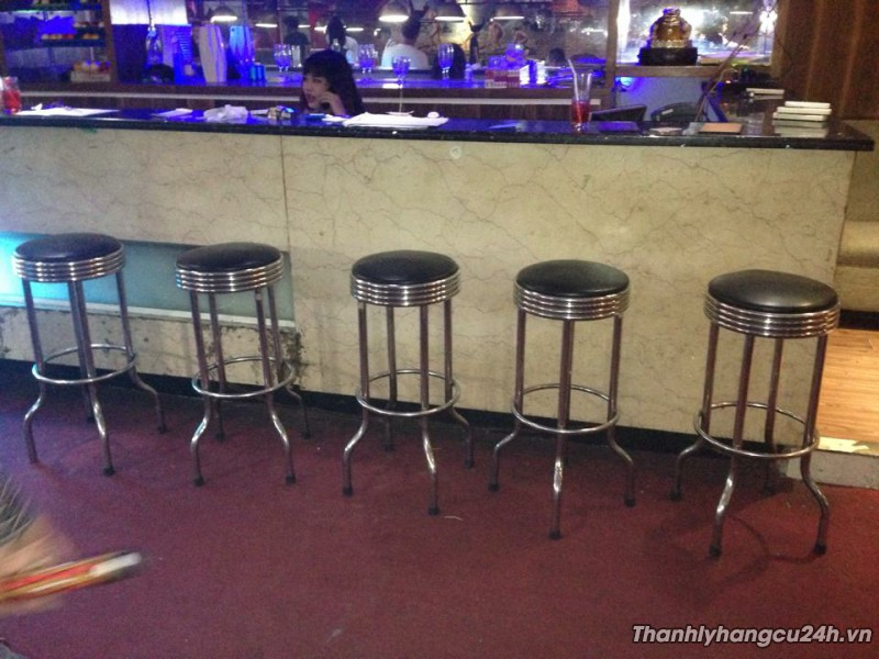 Thanh lý ghế bar đôn inox